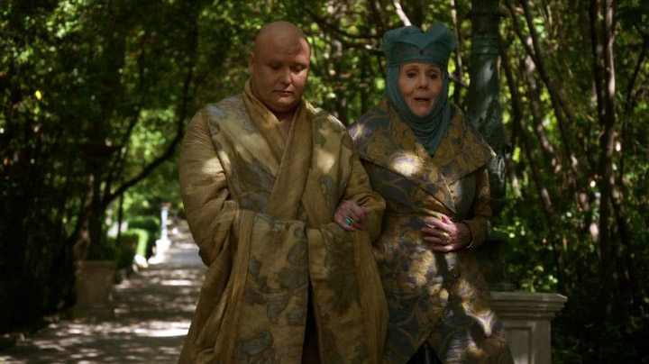 Lord Varys meets with Lady Olenna Tyrell