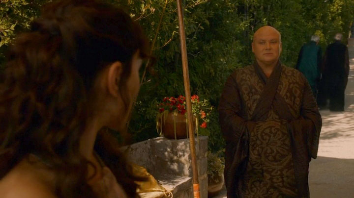 Varys tries to convince Shae to leave King's Landing