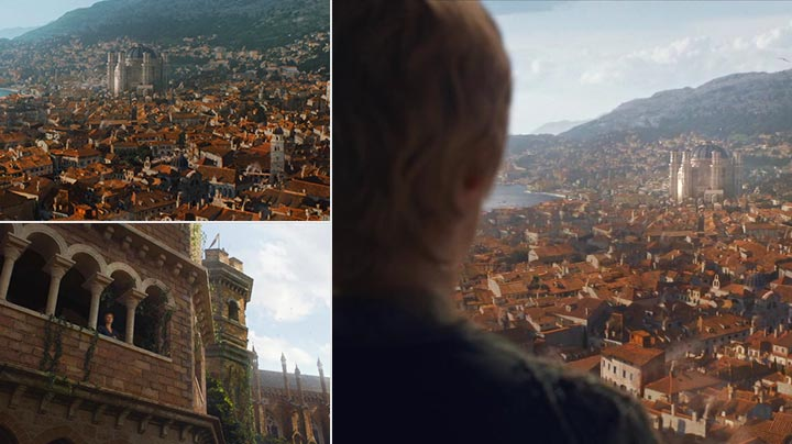 Cersei overlooks the Great Sept from the Red Keep