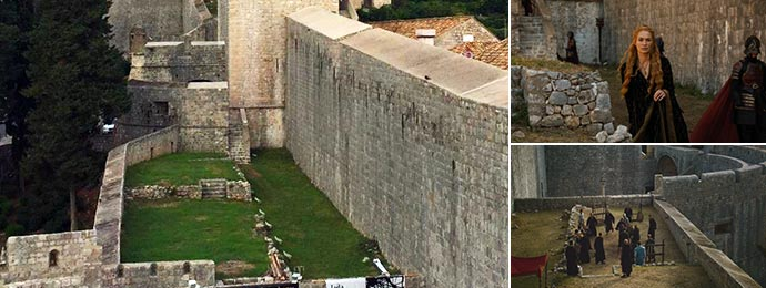 West Walls used as a practice yard and Red Keep walls